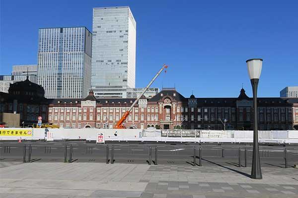 東京駅前工事終了