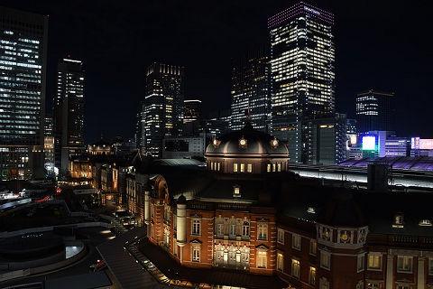 東京駅ライトアップ点灯時間